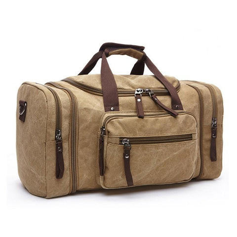 Soft Canvas Men Travel Bags Carry On Luggage Bags Men Duffel Bag Travel Tote Large Weekend Bag Overnight High Capacity