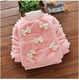 Baby girls sweater toddle kids clothing infant winter cartoon sweater bebe thick velvet casual fleece coat outerwear