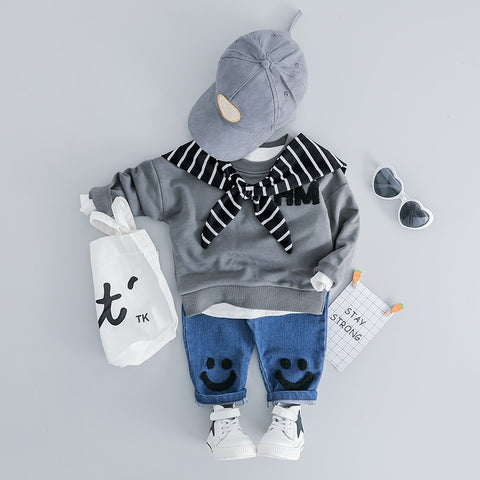 Infant Clothing Sets Spring Baby Girls Boys Clothes Suits T Shirt Pants 2 Piece Children Kids Casual Costume