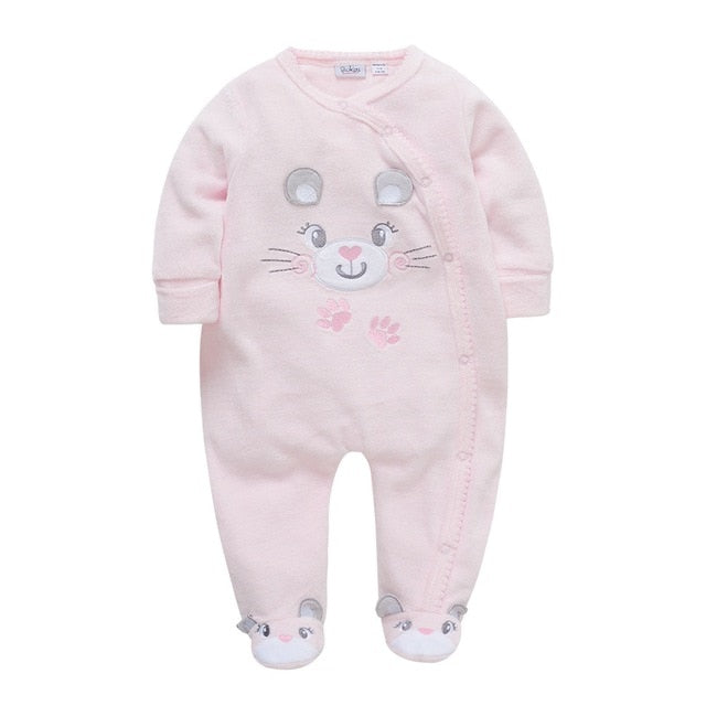 78b2283ad5c Baby rompers winter newborn baby warm thick velvet jumpsuits for bebe