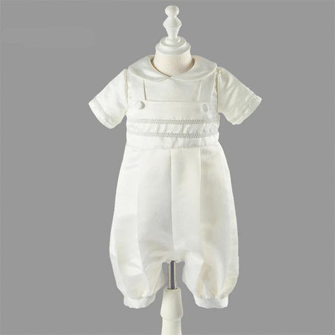 New Ivory White Infant Gown Baby Boys Baptism Dress Christening Gown Size 0 3 6 9 12 Months