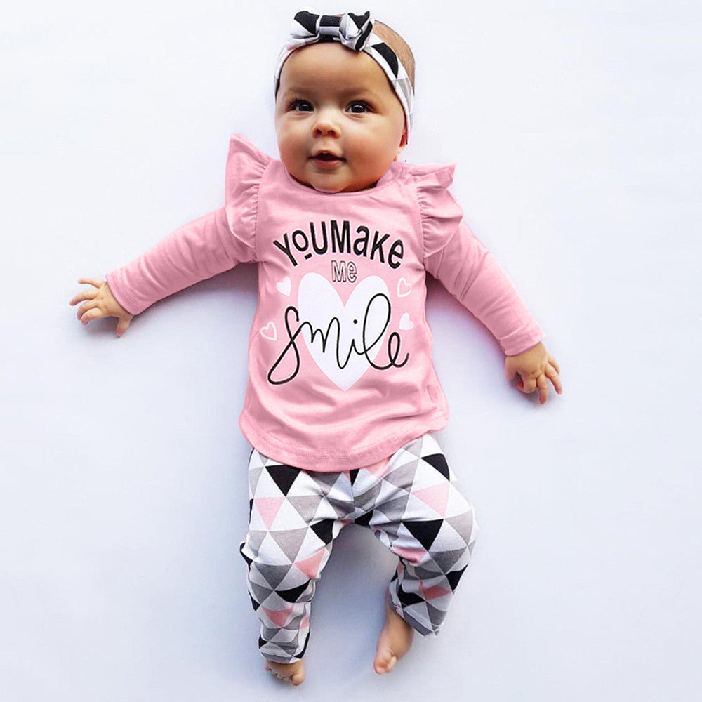 2f8a6c408 baby girl clothes baby boy clothes Newborn Infant Baby Letter Print ...