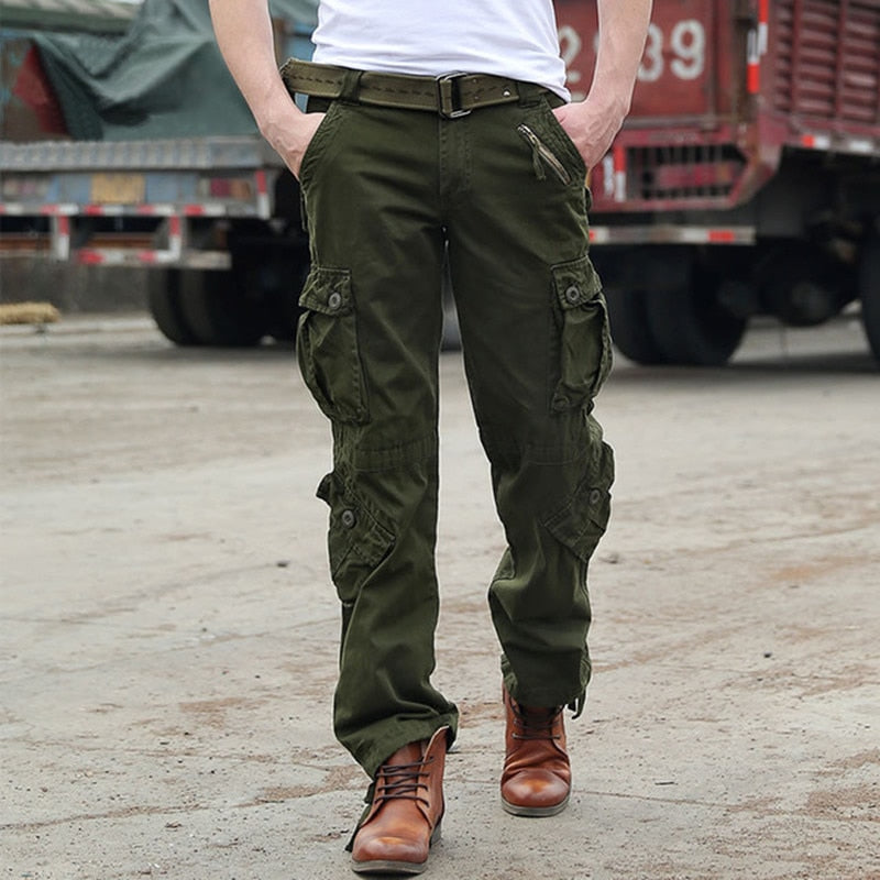 af750a9c2b0cb man Military Army Camouflage Cargo Pants Plus Size Multi-pocket Overalls  Casual Baggy Camouflage Trousers ...