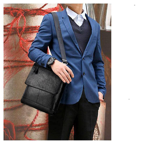 Genuine Leather Messenger Bag Men Shoulder Crossbody Handbag Bolsas Sac Sling Chest For Briefcase Male Small luxury brand