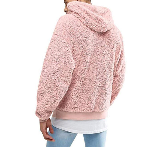 Long Sleeve Sweatshirt Hoodie Hooded Fleece Fleece Casual Sports Pullover Plush Hooded Hoodie Jacket Fashion Winter Jacket