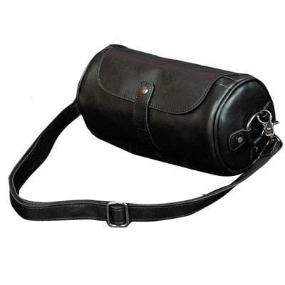 New high quality Crazy Horse PU leather men messenger bag,Brand design Vintage Cylindrical Mans Crossbody bag sac a main B40