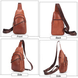 Genuine Leather Shoulder Bags for Men Fashion Small Messenger Crossbody Bags Male Female Sling Bag Chest Bags Cow Leather Solid