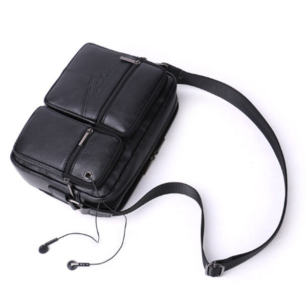 Men's Genuine Leather High Quality First Layer Cowhide Fashion Crossbody Bag Casual Business Messenger Shoulder bag New