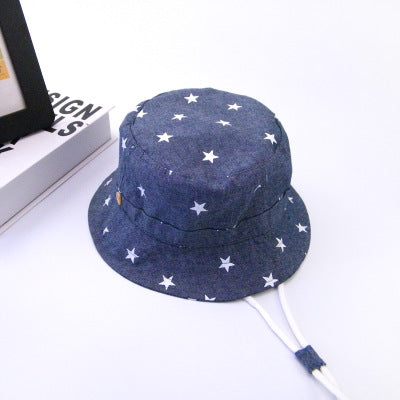 47c3d56ee Soft Cotton Summer Baby Sun Hat Infant Boys Girls Bucket Hat Denim Cotton  Toddler Kids Tractor Cap