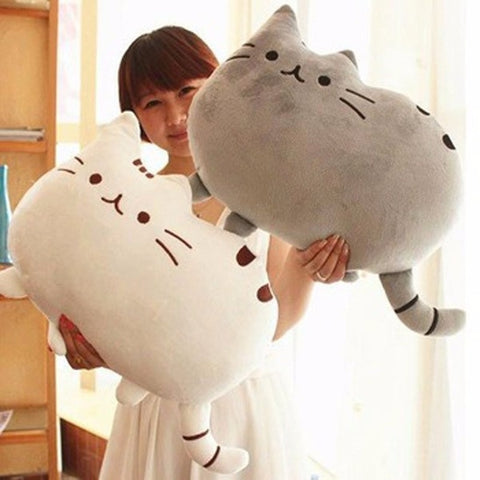 40*30cm Cat Pillow With Zipper Only Skin Without PP Cotton Biscuits Plush Animal Doll Toys Big Cushion Cover Peluche Gift
