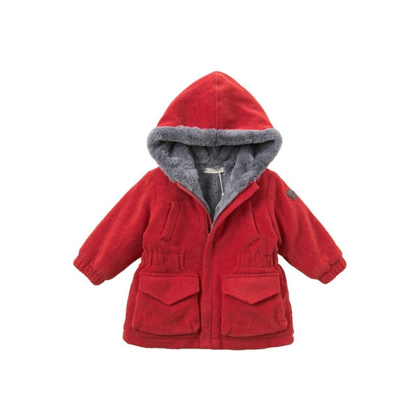 Autumn winter baby hooded coat infant jacket children high quality coat kids outerwear