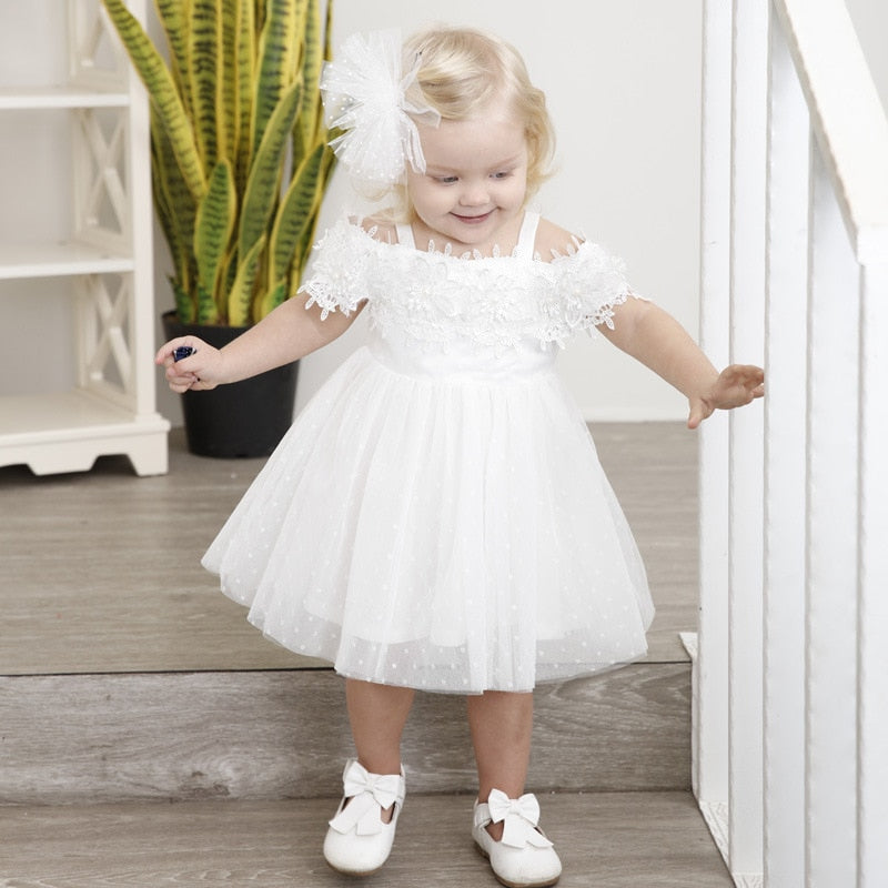 5fd7bce2a ... Baby Girl Dress Baptism Dress for Girl Infant 1-6 Years old Birthday  Strapless Baby ...