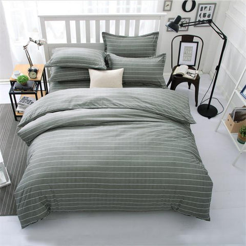 Comforter king grey bedclothes bed linen snowflake Cotton Bedding set Winter bed sheets duvet cover sets