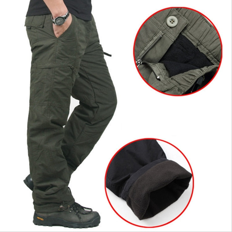 High Quality Winter Warm Men Thick Pants Double Layer Military Army Camouflage Tactical Cotton Trousers For Men Brand Clothing