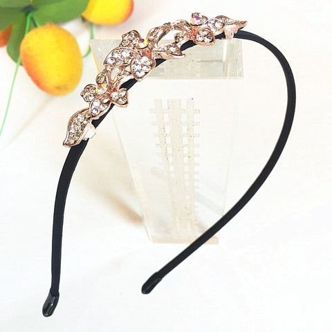 Jewelry Shine Rhinestone Headband Flower Flora Princess Bride Headdress Tiara Crown Cute Girls Hair Accessories Headbands
