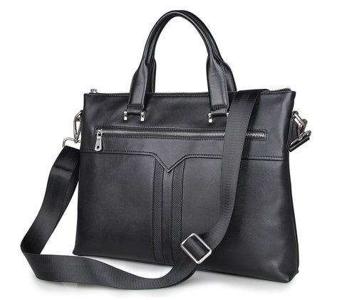 Concise Business Male Bag Genuine Leather Briefcase Head Layer Cowhide Man Handbag PR007330