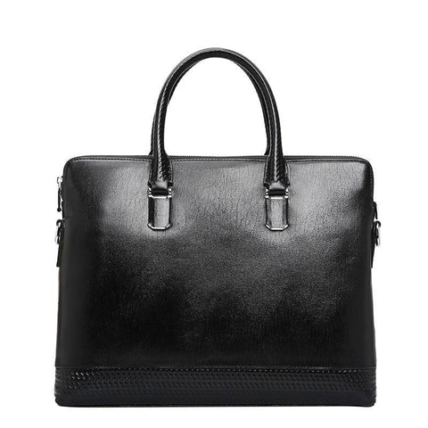 100% Genuine Leather Men Bag Laptop Briefcase Male Famous Brand Crossbody Bag Business Men's Handbag Shoulder Ipad Bag