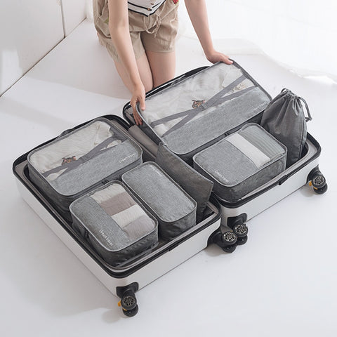 New Fashion Luggage Organizer High Quality Gift Box Waterproof 7 pcs Travel Bag Packing Cube B61