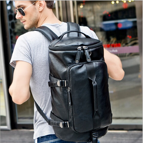 Men leather travel bags for men large capacity travel duffle for men leisure weekend bags travelling backpack  GB00007