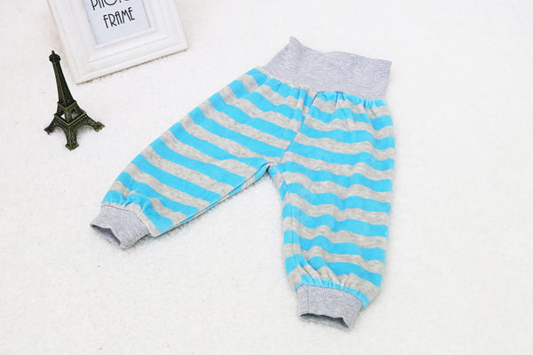 Little Q Baby Velour Fashion Pants Boys Autumn Long Sports Striped 3 pcs/lot High Waist Trousers