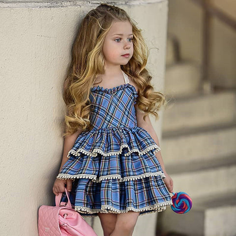 Baby Girl Dress Fashion Kids Clothes Europe and the American Baby Dresses Girl Princess Dress Children Birthday Dress