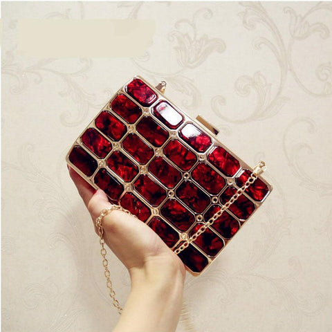 Luxury Style Gold Acrylic Women s Clutch Evening Bags Handbags Purses Women  Wedding Party Bags Ladies Clutch ee9af72f6ad0