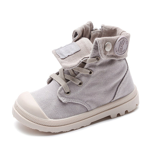 Spring Autumn New Kids Sneakers High Children's Canvas Shoes Boys And Girls Child Baby Martin Boots Casual Military Boots