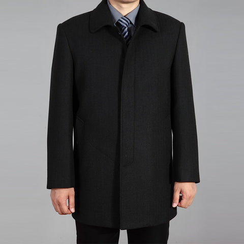 Quality Men Wool Coat Autumn Winter Overcoat Wool Woolen Jacket Male Pea Coat Men Winter Long Coat Homme Plus Size 7XL