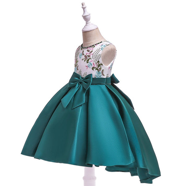 Children Dress Elegent Beaded Flower Girls Princess Tutu Party Dress for Baby New Year Christmas Clothing 2-10 Y