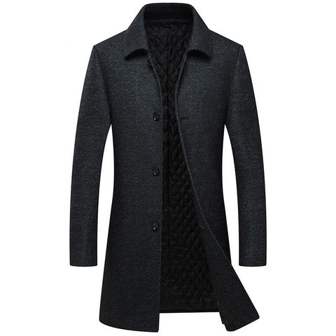 Men's casual wool jacket winter thick warm luxury high quality knitted wool fashion slim lapel coat A17266