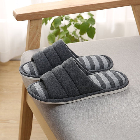 Men House Slippers Indoors Slip on Light Soft Winter Warm Men's Home Slippers Causal Shoes