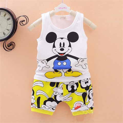 Children Boys Girls Clothes Set Kid Cartoon Vest And Shorts Summer Style Baby Suits Toddler Clothing Cute Brand Tracksuits
