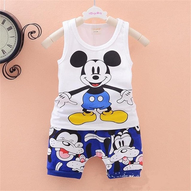 f9376e5e138c4e ... Children Boys Girls Clothes Set Kid Cartoon Vest And Shorts Summer  Style Baby Suits Toddler Clothing ...