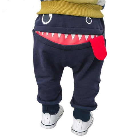 Winter Fashion Baby Pants girls boys 3D Cartoon Shark Tongue Long pants Sweatpants Trousers Outfit Toddler kids trousers