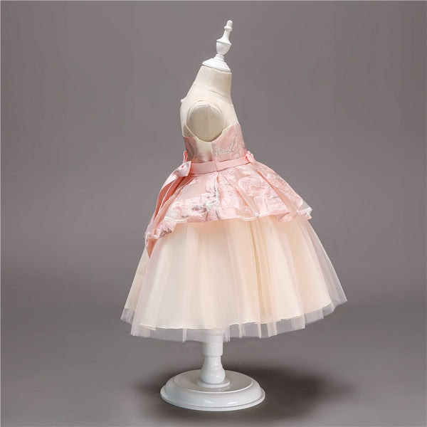 Girls Princess Flowers Ball Gown Weddings Dress Party Princess Dress Kids Clothes Girls Dresses for Christmas New Year custumes