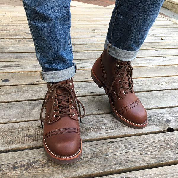 Genuine Leather Top Quality New Men Casual Shoes Luxury Designer British Autumn Winter Ankle Boots Red Motorcycle Boots