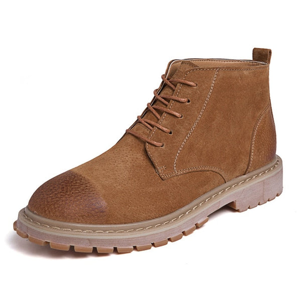 Men Shoes New Men Boots Timber Land Shoes Suede Leather Boots Men Lace Up Ankle Boot Men's Chelsea Boots