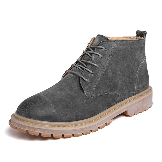 280a14a926f Men Shoes New Men Boots Timber Land Shoes Suede Leather Boots Men Lace Up  Ankle Boot Men's Chelsea Boots