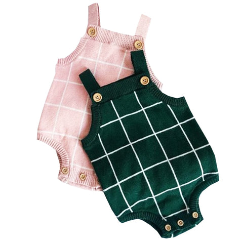 Baby Boys Knitting Rompers Cute Overalls Newborn Baby Boy Clothes Infant Baby Girl Boy Sleeveless Romper Jumpsuit 0-3T