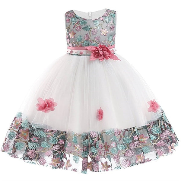 Girl Dresses Summer Petals Dress For Kids Party Birthday Prom Gowns ... 7f941dc5e9d6