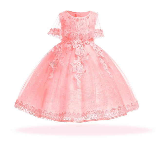 168af7388 Baby Girls Dress Pearl Infant Party Dresses Vintage Newborn Baptism ...