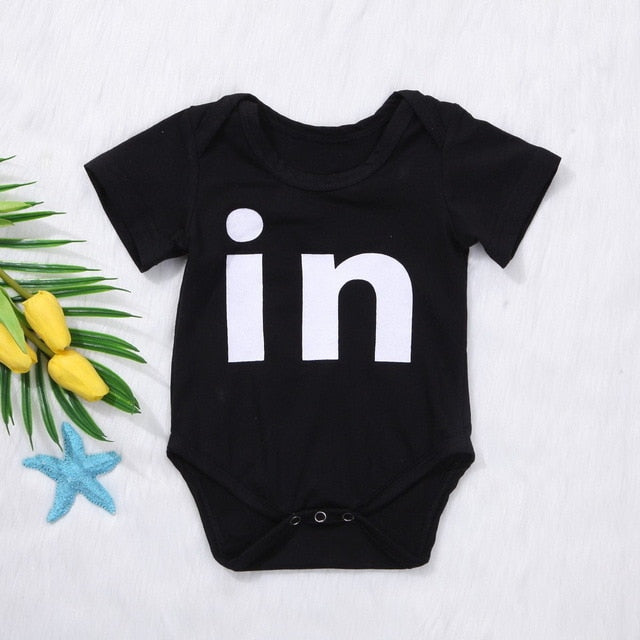 12cb7a8b1dda4 ... Newborn Toddler Twins Baby Girls Boys Clothes Letter Romper Jumpsuit  One-piece Outfits ...