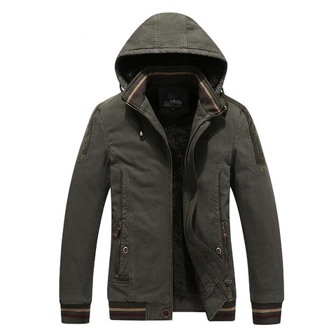 Winter Jacket Men Breathable Warm snow Thick fleece men`s Casual Parkas coat Cotton-Padded hooded Jacket size X Y