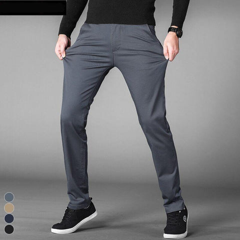 Flight Tracker 2018 Spring Summer Thin Stretch Linen Mens Casual Pants Male Trousers Business Mens Pants Slim Fit Straight Leg Pant Trouser Casual Pants