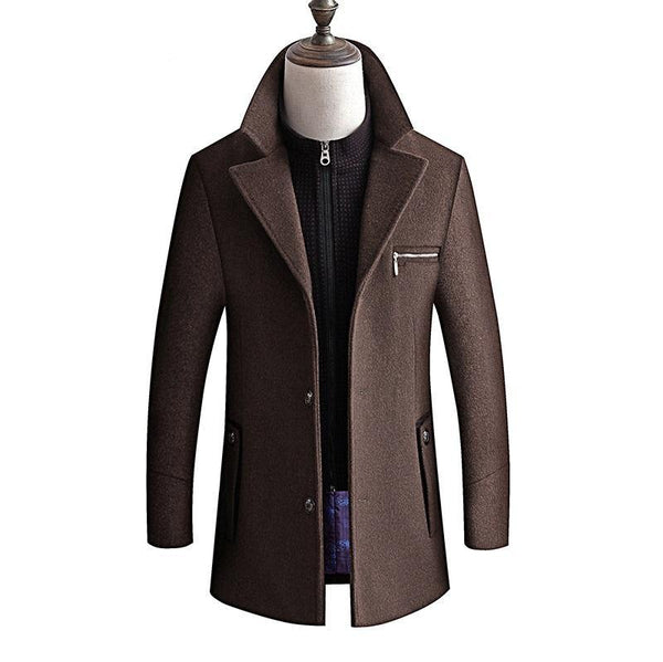 new arrival winter high quality wool thicked trench coat men,men's  wool jackets ,plus-size M-4XL,8863