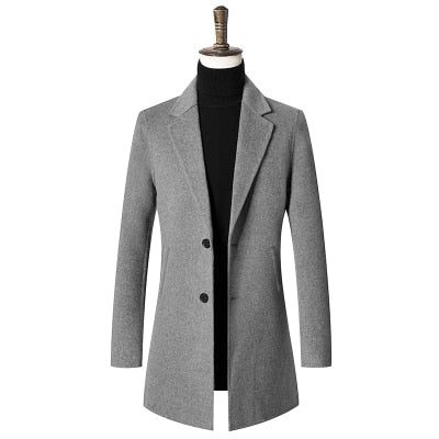 4d5a7b5083f New arrival high quality winter coats Double sided wool casual long trench coat  men