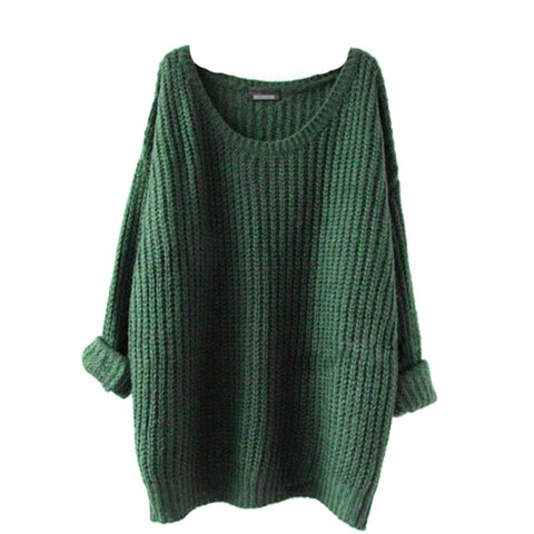 Autumn Winter Sweater Women O-Neck Loose Pullovers Solid Jumper Knitted Basic Sweaters 5 Colors new