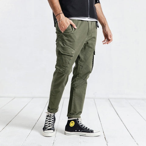 Casual Pants Men Fashion Hip Hop Streetwear Cotton Brand Clothing Ankle-Length Pants Male Trousers Men 190056