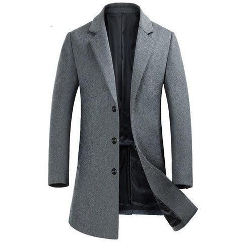 New Arrival Winter High Quality Wool Men's Single Breasted Trench Coat,winter Coat Men,Double-sided Cashmere Trench Coat