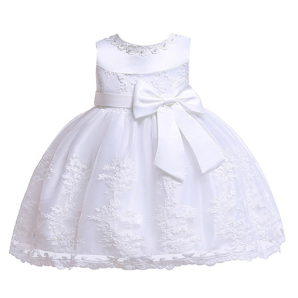 Flower Embroidery Baby Girl Dress 3M-24M 1 Years Baby Girls Birthday Dresses Vestido birthday party princess dress